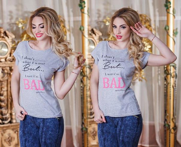 Женская футболка с надписями