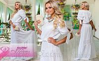 """Очень модное платье в деревенском стиле """"Мадлен"""" декорированное дорогим шитьём"""