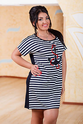 Д2929 Платье  размеры 50-56 Турция, фото 2