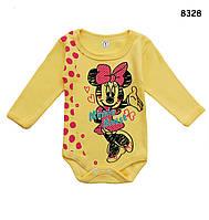 Боди Minnie Mouse с длинный рукавом для девочки. 1, 3 мес