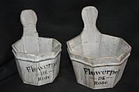 Кадка деревянная для цветов 11,5 см, диаметр 19 см (140/120) (цена за 1 шт. +20 грн.)