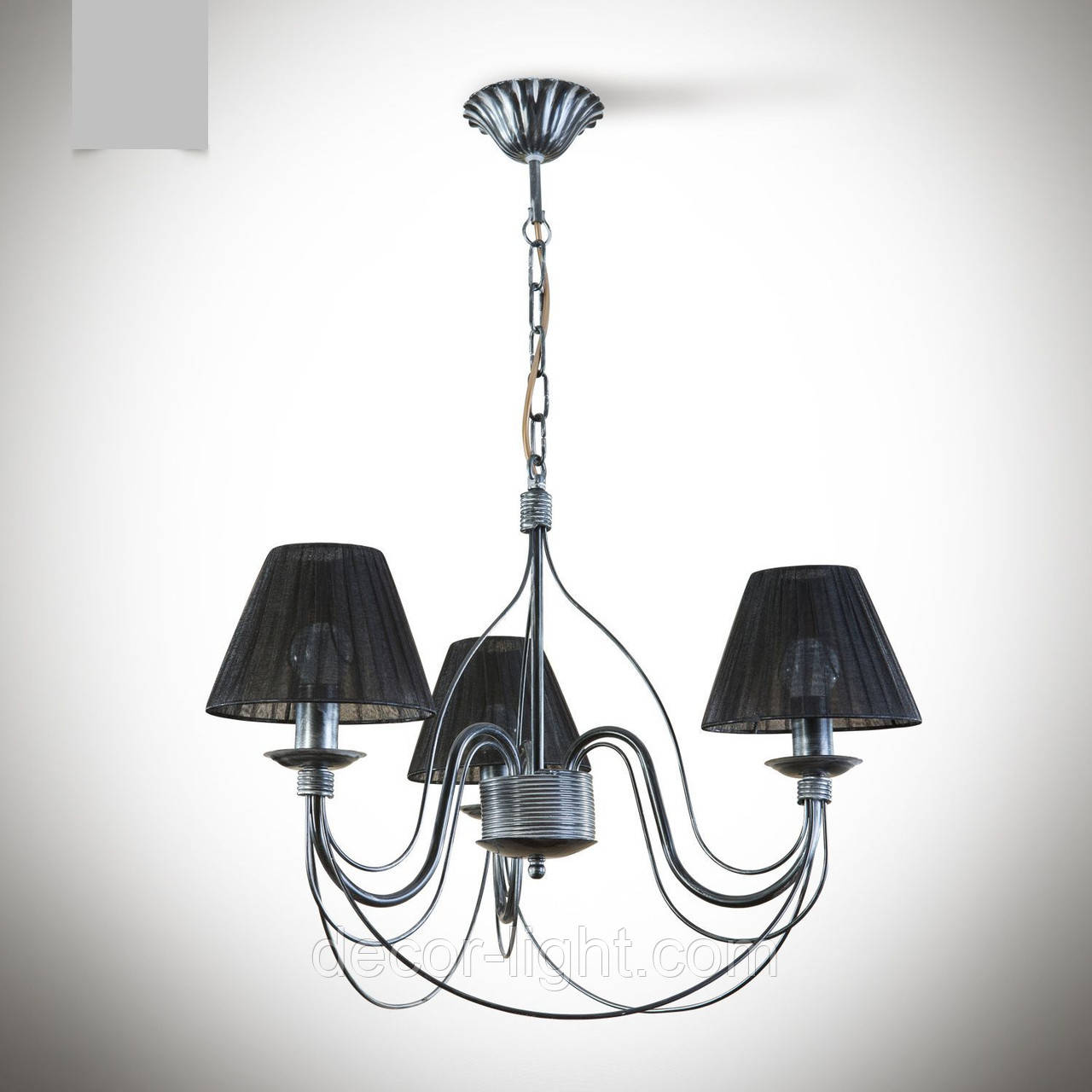 Люстра 3 ламповая для спальни, зала, небольшой комнаты с абажурами  18333-8
