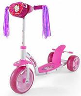 Самокат Milly Mally Crazy Scooter Pink Kitty (с сумочкой)