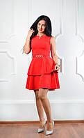 Яркое модное женское платье с красивой юбкой