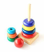Деревянная игрушка Пирамидка «Круг»