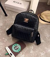 Плетеный мини рюкзак женский.