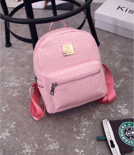Плетеный рюкзак женский.