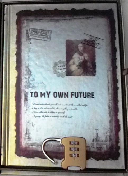 """Блокнот подарунковий з замком """"TO MY OWN FUTURE"""""""