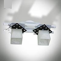 Люстра 2-х ламповая, металлическая, кухня, коридор, ванная комната