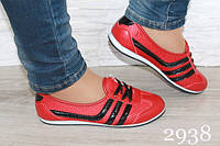 Женские красные кеды Adidas