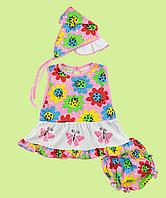 Комплект летний ясельный для девочки, фото 1