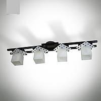 Люстра 4-х ламповая металлическая, кухня, коридор, ванная комната