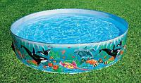 Практичный детский каркасный бассейн «Касатки», Intex 58461, 183-38 см