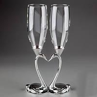 """Оригинальные свадебные бокалы  """"Лебеди"""" 25 см"""