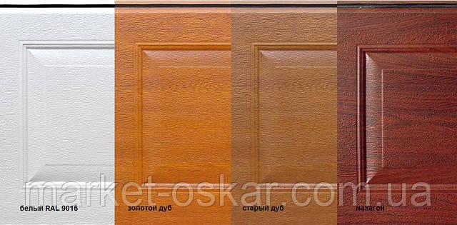 Типы филенок для секционных ворот Ритерна
