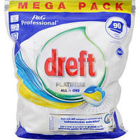 Капсулы для посудомоечной машины Dreft Platinum All in One 90 шт