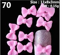 3-D бантики для дизайна(светло-розовой)