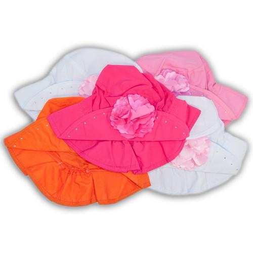 Панамка для девочек с цветком