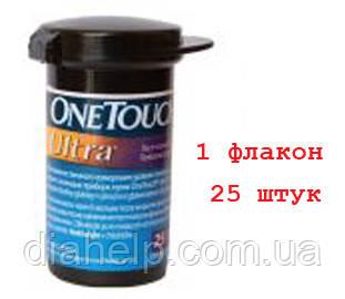"Тест-полоски Ван Тач Ультра (One Touch Ultra) 25 штук  - 1 флакон - Магазин ""Dialand"" в Киеве"
