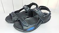 Мужские черные кожаные сандали ECCO. Украина