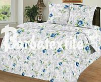 Постільна білизна двоспальне Gold - сині трояндочки