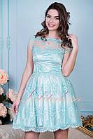 Вечернее платье с пышной юбкой Брижит мятное