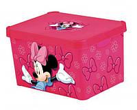 Ящик для хранения 23 л розовый MINNIE