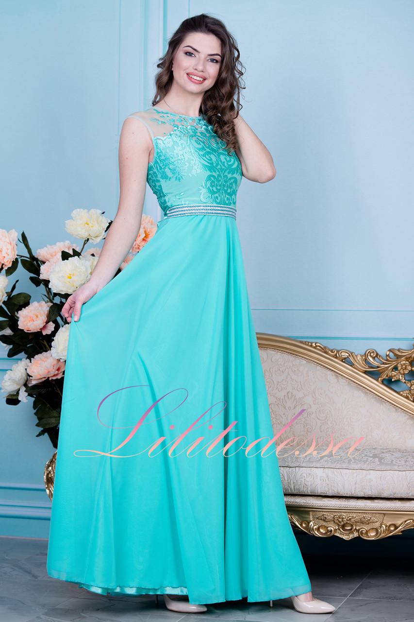 b4860702faa63e8 Вечернее платье бирюзовое Адели - LILIT ODESSA оптово-розничный магазин  женской одежды в Одессе