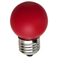 Светодиодная лампа Feron цветная Е27 1W G45 LB-37 шар зеленый свет