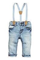 Детские джинсы с подтяжками 1,5-2 года