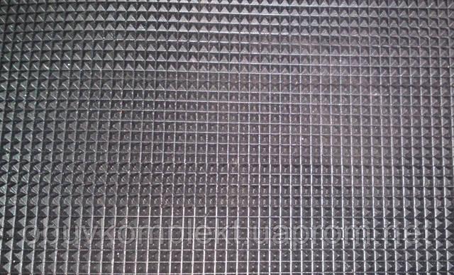"""Резина подметочная  для обуви """"Пирамидка"""" 750*350*2,8 мм. цвет черный"""