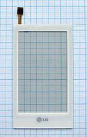 Тачскрин сенсорное стекло для LG GT500/505 white