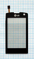 Тачскрин сенсорное стекло для LG GW520 black