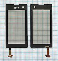 Тачскрин сенсорное стекло для LG KF690/700 black
