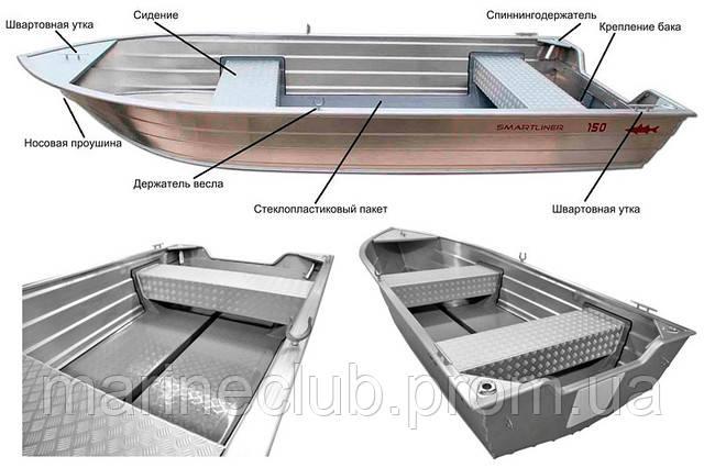 Алюминиевая лодка Smartliner 110 - Smartliner-110 - Marine Club — лодочные моторы, лодки, оборудование для лодок и катеров в Днепре