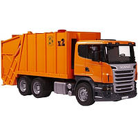 Мусоровоз BRUDER 1:16 SCANIA  R-R-series оранжевый (03560)