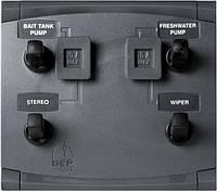 Панель выключателей постоянного тока, 4 тумблера - CMP-4WP