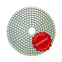 Липучки алмазные Ф125 мм. StoneCraft-А класс для полировки камня с водой и на сухо.