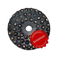 Алмазные липучки, черепашки резиновые Pele Ф100 мм. с вставками для шлифовки камня с водой.
