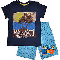 """Летний детский трикотажный костюм  """"Hawaii"""" , для мальчика от (0-1)(2-3)(4-5)(6-7) лет"""