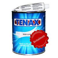 Лей мастика Tenax Solido Paglierino объёмом 1 литр бежевого цвета для склейки памятников из габбра и мрамора.