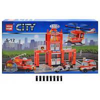 Конструктор CITY  Пожарный участок 491дет. 89008
