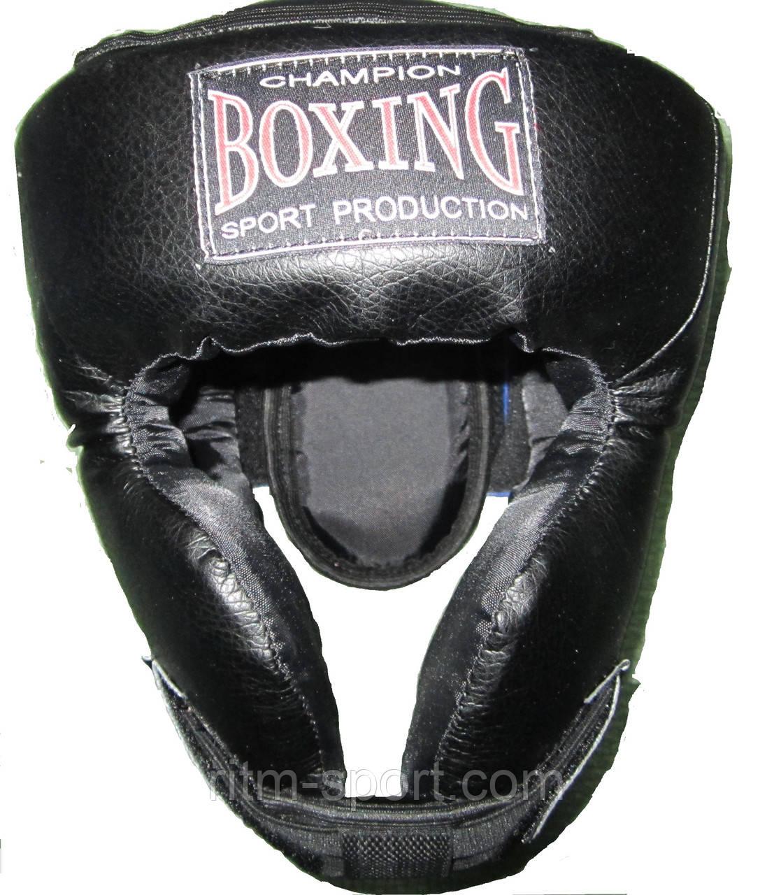 Шлем черный Boxing с усиленной защитой