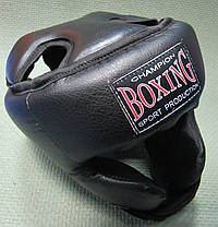 Шлем черный Boxing с усиленной защитой, фото 2