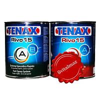 Клей эпоксидный морозоустойчивый двух компонентный Tenax Rivo 15 Transparento (A+B прозрачный) объёмом 1 литр