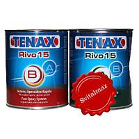 Клей эпоксидный морозоустойчивый двух компонентный Tenax Rivo 15 Nero (A+B чёрный) объёмом 1 литр + 1 литр для