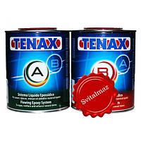 Смола-резинатура Tenax (A+B) объёмом 1 литр + 1 литр для обработки камня с большими и глубокими трещинами для