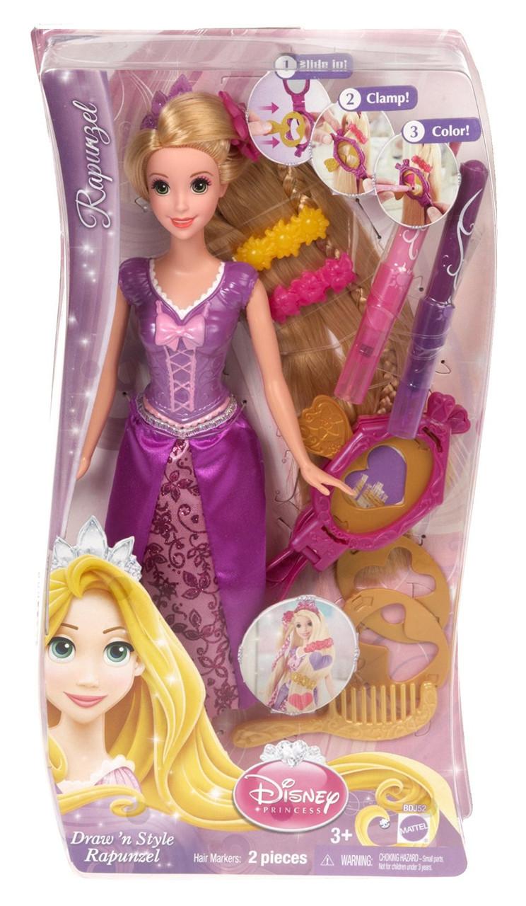 Кукла Дисней принцесса Рапунцель (Disney Princess Draw 'n Style Hair Rapunzel Doll)