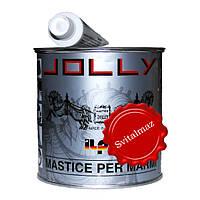 Клей мастика EXTRA KITT JOLLY TIXO NERO (чёрный) объёмом 0.750 литра пастообразный для склейки памятников и пл