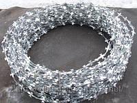 КЛЗ Егоза 450х5 клипс Колючая проволка стальная ст. рулон, 50 метров, кг, ГОСТ цена купить, доставка.